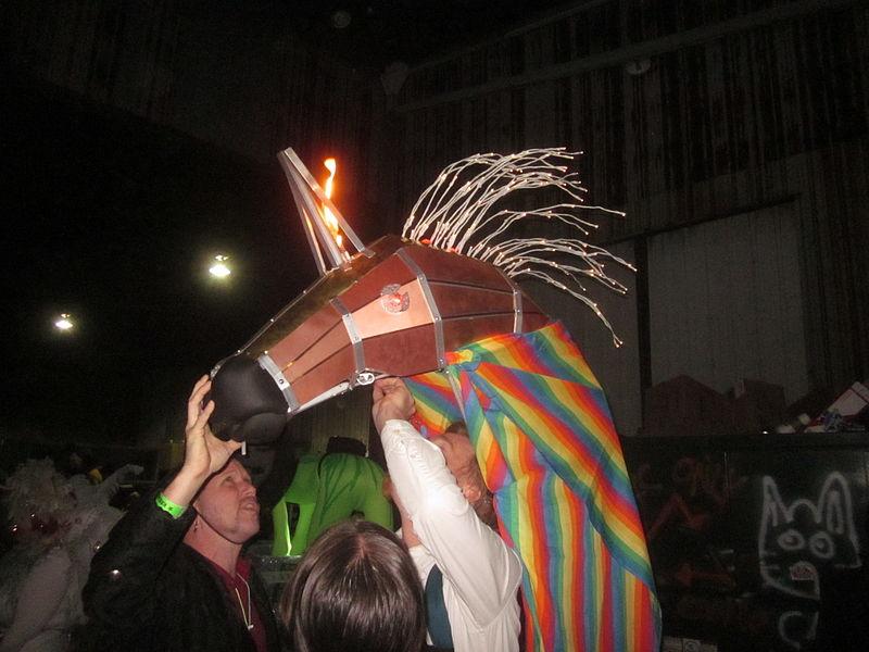 Chewbacchus13 Lineup Lighting the Unicorn.JPG