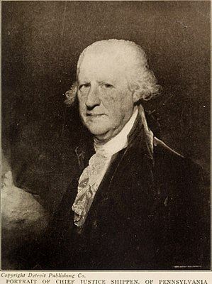 Edward Shippen IV - Chief Justice Edward Shippen of Pennsylvania, painted by Gilbert Stuart
