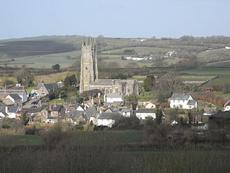 Chittlehampton - Chittlehampton, viewed from south