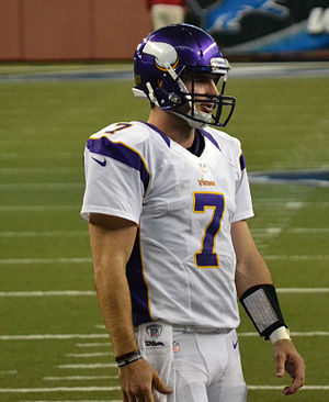 Christian Ponder - Christian Ponder at Ford Field in Detroit in 2012.