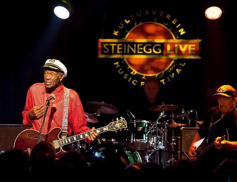 Chuck Berry na jednom z jeho posledních turné v roce 2013.