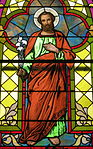 Church of the Sacred Heart (Coshocton, Ohio) - stained glass, Saint Joseph.JPG