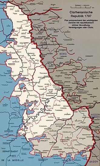 Cisrhenian Republic - Cisrhenian Republic in 1797