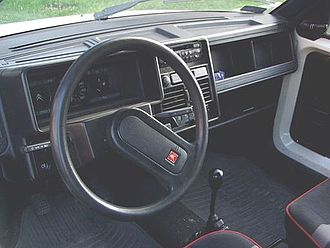 Citroën AX - Interior of an early AX