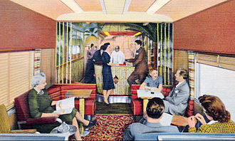 City of Miami (train) - The Bamboo Grove lounge-observation car.