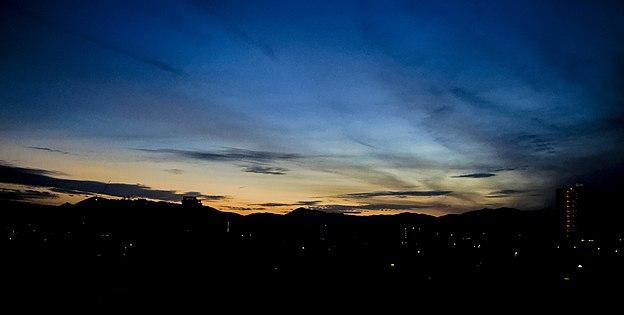 Civil twilight at Kuala Lumpur suburbs.jpg