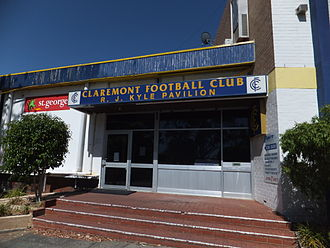 Claremont Oval - Entry to Claremont Football Club at Claremont Oval