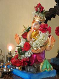 Clay Ganesh Murti, Ganesh Chaturthi.JPG