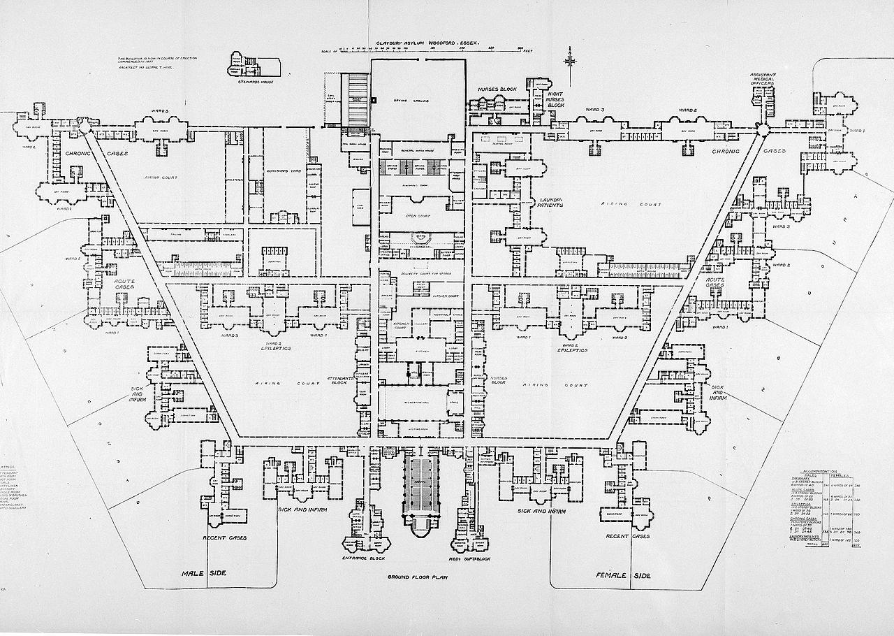 File claybury asylum ground floor plan wellcome l0023315 - Upload floor plan and design free ...