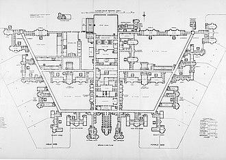 Claybury Hospital - Claybury Asylum, ground floor plan
