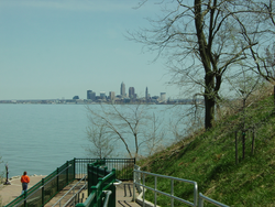 Cleveland skyline from Lakewood Park