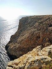 Cliff with ocean. Cap de Barbaria Formentera.jpg