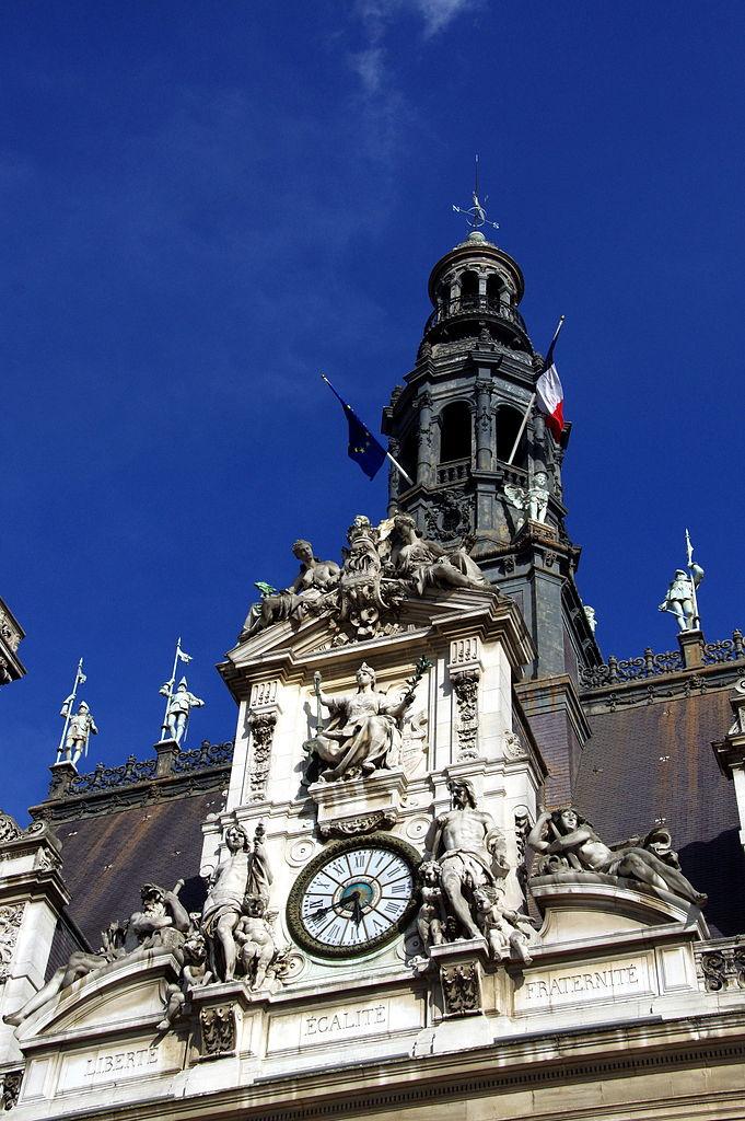 File Clock Of The H Tel De Ville Paris 13 April