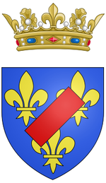 Description de l'image Coat of arms of Louis Jean Marie de Bourbon, Duke of Penthièvre.png.