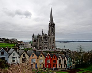 St Colman's Cathedral, Cobh - Image: Cobh Cathedral West Side 2012