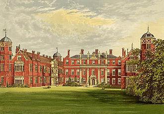 Cobham Hall - Cobham Hall circa 1880.