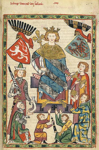 Galerie Royale Tchécoslovène 394px-Codex_Manesse_Wenzel_II._von_Böhmen