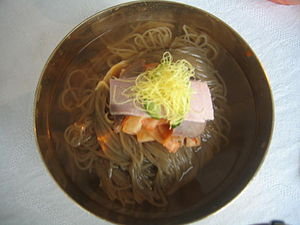 Naengmyeon - Image: Cold Noodles at Famous Okryu Restaurant (10108835864)
