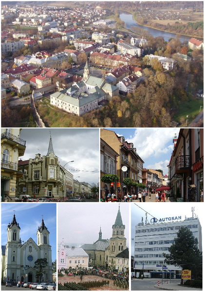 Datei:Collage of views of Sanok.png