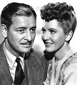 Publiciteitsfoto van Ronald Colman en Jean Arthur voor The Talk of the Town