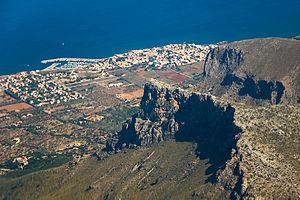 Colònia de Sant Pere - Image: Colonia Sant Pere from air