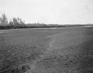 Alamo Canal - Dry bed of the Colorado River below the Lower Mexican Intake.