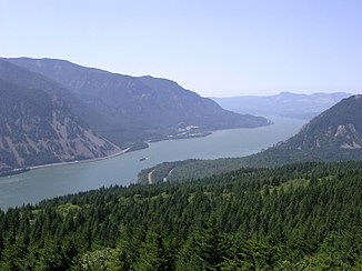 Columbia-elven demte opp til Bonneville-sjøen