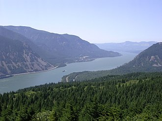 Hydrological transport model - Columbia River, which has surface runoff from agriculture and logging
