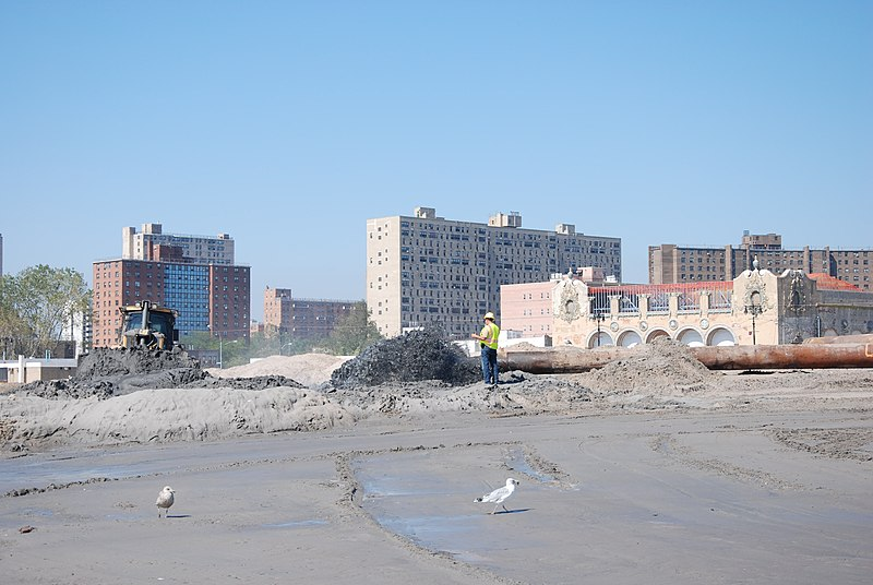 File:Coney Island Post-Sandy Beach Restoration (repair and restore of previously constructed coastal storm risk reduction project) (10019501123).jpg