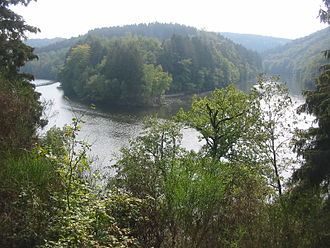 Ourthe - Image: Confluence of the two ourthes