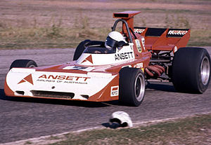 Garrie Cooper - Garrie Cooper in his Elfin MR5 at the Surfers Paradise round of the 1972 Australian Drivers' Championship