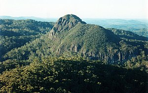 Coorabakh National Park - Big Nellie Mountain, photographed from Little Nellie Mountain
