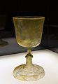 Copa de vidre procedent de sant Vicent de la Roqueta, segles XIV - XV.JPG