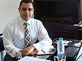 Copy of أبو النور في مكتبه بمركز الدراسات السياسية والإعلامية ـ القاهرة ـ مارس 2011م.JPG