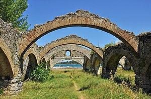 Venetian arsenal, Gouvia - The arches with Gouvia Bay in the background