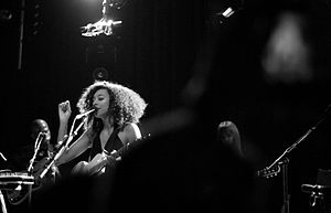 Corinne Bailey Rae - Rae performing at Le Divan du Monde, 2010