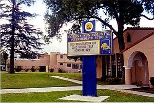 Corona-Norco Unified School District - Image: Corona Fundamental Intermediate School (2002)