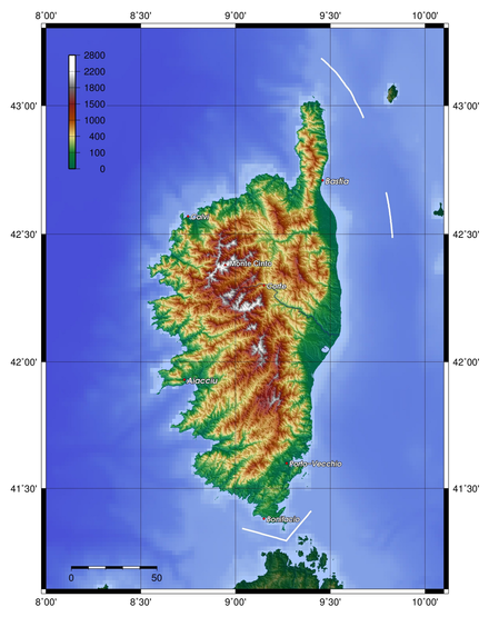 Cartina Sardegna Rilievo.Rilievo Sardo Corso Wikiwand