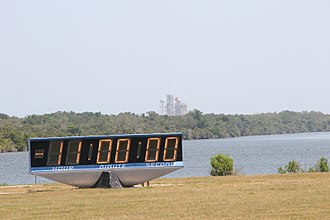 Countdown - Countdown clock at NASA's Kennedy Space Center at L-11 hours (28 April 2011) of STS-134, Space Shuttle Endeavour.