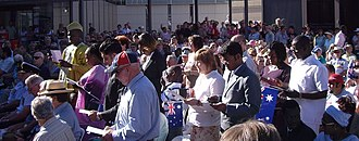 Department of Immigration and Border Protection - Australia Day citizenship ceremony, 2007