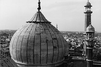 Jama Masjid, Delhi - View of the dome