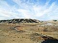 Cow Creek flows into Missouri River in Missouri Breaks, Montana.JPG
