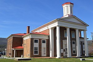 National Register of Historic Places listings in Craig County, Virginia - Image: Craig County Courthouse, New Castle