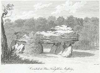 Cromlech at Plas Newydd in Anglesey