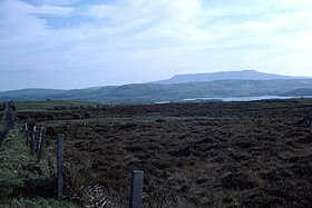 Cuilcagh Mountain with Lough Macnean Upper in foreground - geograph.org.uk - 65057.jpg