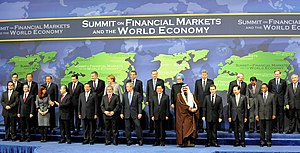 Middle power - Leaders of the G-20 countries and others present at the 2008 G-20 Washington summit. Most members of the G-20 are middle powers while some are great powers.