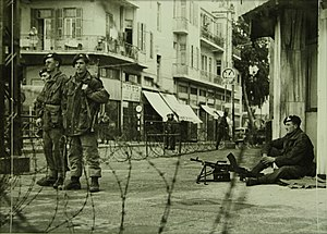 Jewish insurgency in Mandatory Palestine - British paratroopers enforce curfew in Tel Aviv following the King David Hotel bombing, July 1946