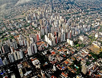 Curitiba - Aerial view of Batel and Água Verde neighborhoods