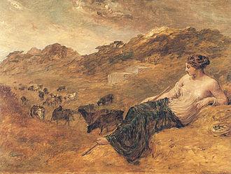 Cyrene (mythology) - Cyrene and Cattle by Edward Calvert, 1830s or 1840s