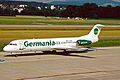 D-AGPE Fokker 100 Germania ZRH 19JUN03 (8536536740).jpg